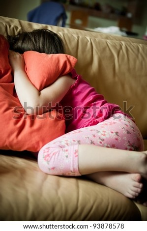 Big problems - childhood - stock photo