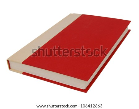 Big red book isolated on white - stock photo