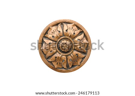Big round architectural element on a white background. - stock photo