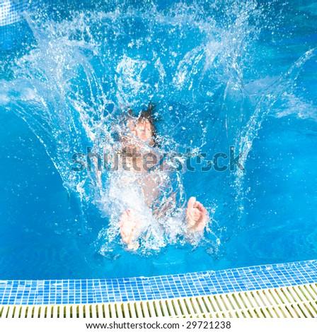 Big splash!!! - stock photo