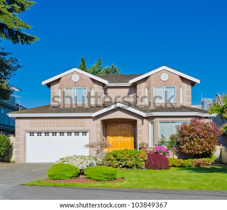 Big standard middle class North American house. - stock photo
