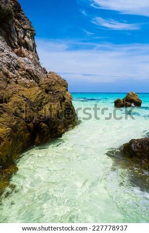 Big Stones Idyllic Island  - stock photo