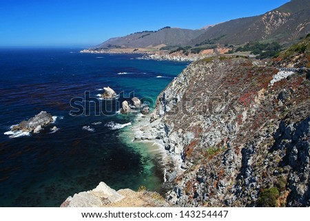 Big Sur at Central Coast near Monterey, California - stock photo