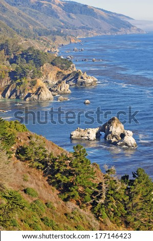 Big Sur Coast, California - stock photo