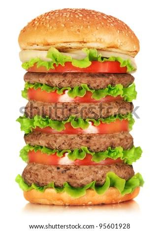 Big Tasty Hamburger - stock photo