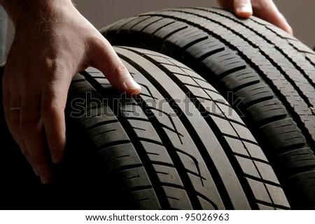 big tire - stock photo