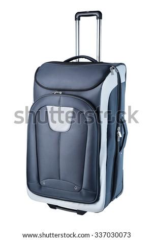 Big travel bag isolated on white - stock photo