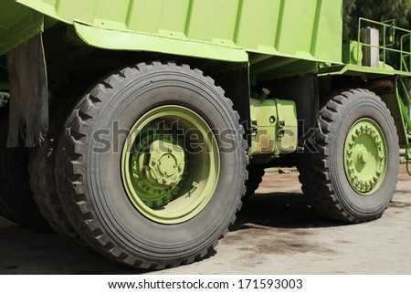 Big truck for mining - stock photo