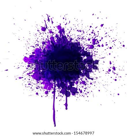 Big violet splash isolated on a white background.  - stock photo
