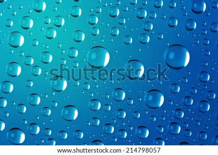 Big Water Drops Abstract Background - super macro shot - stock photo