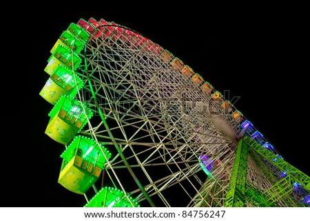 big wheel at night - stock photo