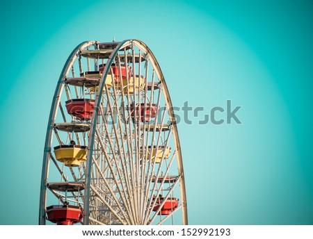 Big Wheel detail. Retro look - stock photo