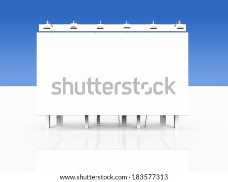 Big white advertising board - stock photo