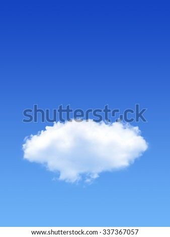 Big White Clouds in a blue sky with space - stock photo