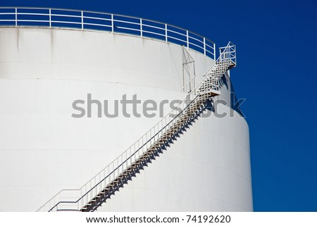Big white industrial tank - stock photo