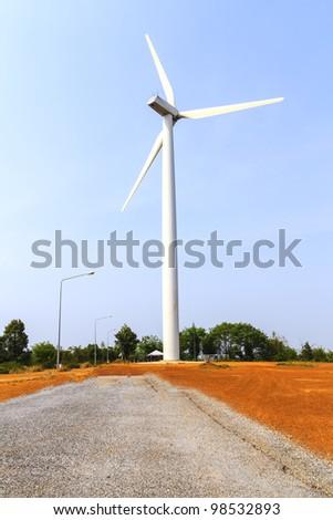 Big wind turbine - stock photo