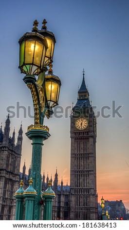 BigBen Sunset HDR - stock photo
