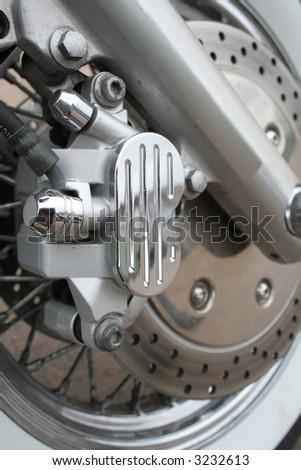 Bike brake - stock photo