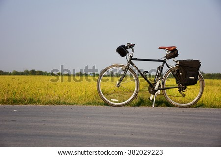 bike for health in thailand - stock photo