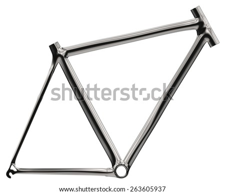 Bike frame isolated on white - stock photo