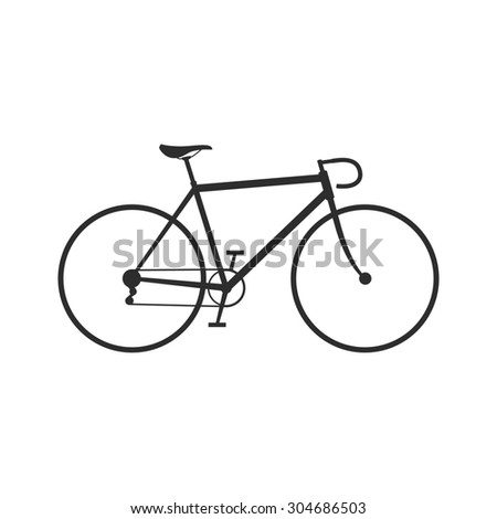 Bike icon isolated on a white background. Raster version - stock photo