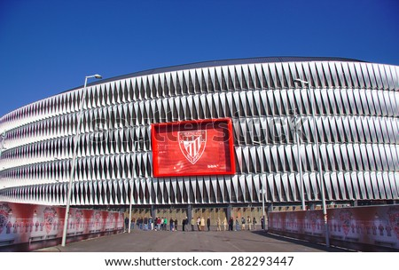 BILBAO, SPAIN - MAY 28 2015: General view of San Mames football stadium in Bilbao, Basque Country, Spain - stock photo