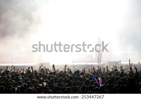 BILBAO, SPAIN - OCT 31:Crowd at Bime Festival on October 31, 2014 in Bilbao, Spain. - stock photo