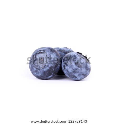 Bilberry isolated on white - stock photo