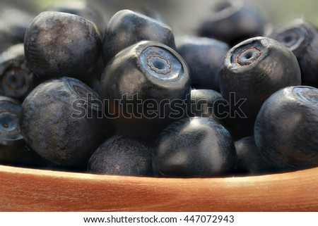 bilberry on a black table - stock photo