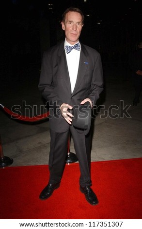 """Bill Nye at the world premiere of """"The Astronaut Farmer"""". Cinerama Dome, Hollywood, CA. 02-20-07 - stock photo"""
