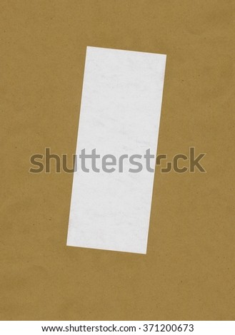 bill or receipt isolated over beige background with copyspace - stock photo