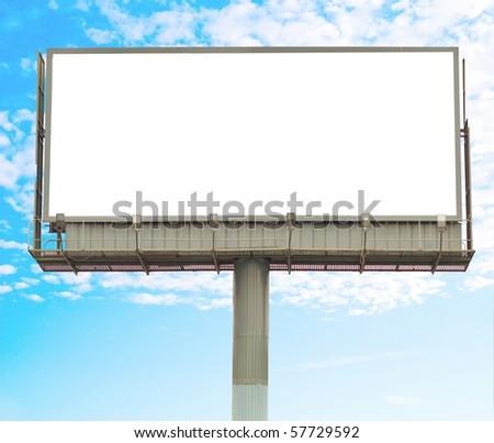 Billboard In The Sky - stock photo