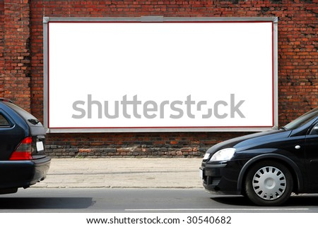 Billboard in the street - stock photo