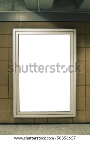 Billboard in the underground - stock photo