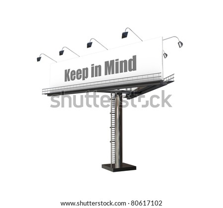billboard isolated on white background - stock photo