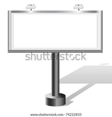 Billboard isolated on white with place for your text. Similar image in vector format  in my portfolio. - stock photo