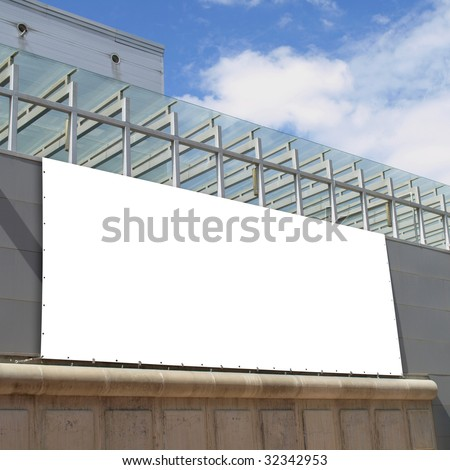 Billboard on a Trade Fair - stock photo
