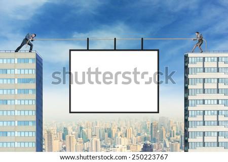 Billboard over the city - stock photo