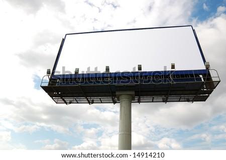 Billboard sign. - stock photo