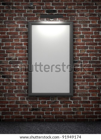 billboard with light source - stock photo