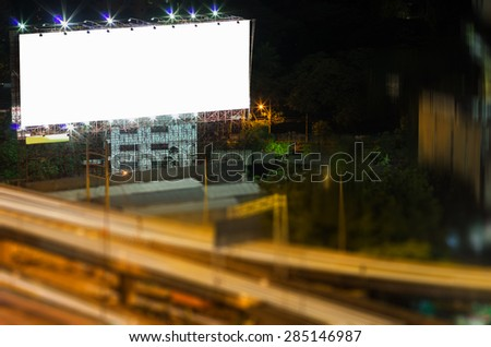 Billboards, blank white space for text. - stock photo