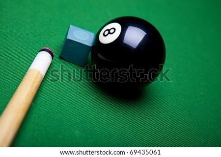 Billiard ball close up - stock photo