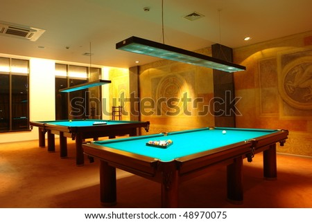 Billiard tables - stock photo