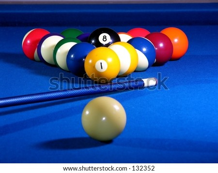 Billiards Still Life - stock photo