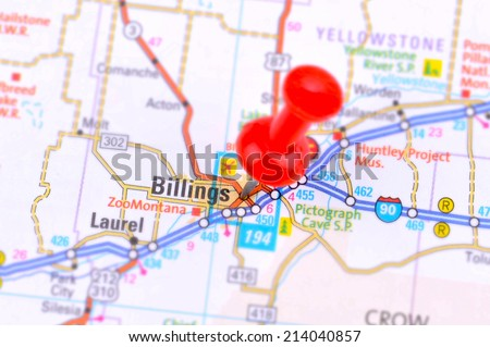 Billings and Map - stock photo