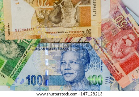 Bills from South Africa - stock photo