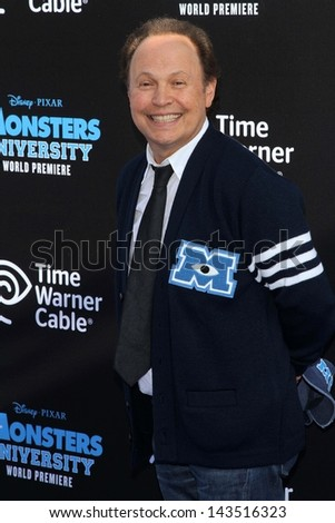 "Billy Crystal at the ""Monsters University"" Los Angeles Premiere, El Capitan Theater, Hollywood, CA 06-17-13 - stock photo"