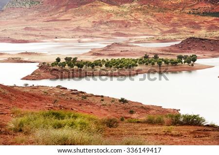 Bin El Ouidane Dam, Morocco, Africa - stock photo