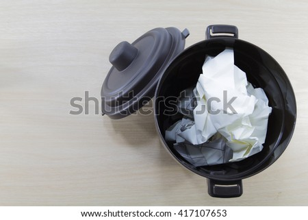 bin for paper - stock photo