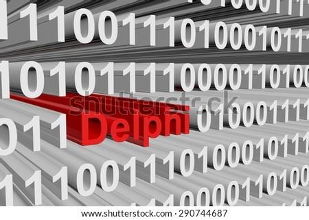 binary code Delphi - stock photo